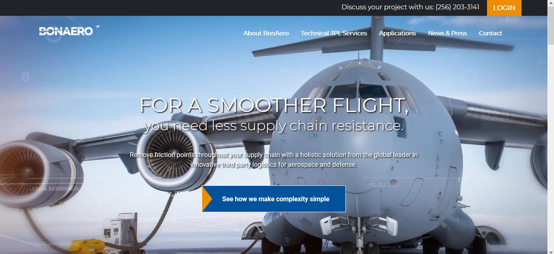 BonAero Homepage Screenshot
