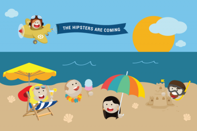 Hipster mascots on our web design site.