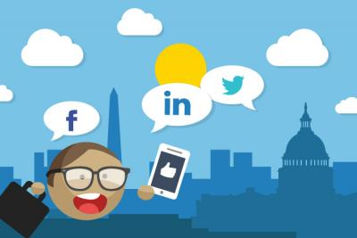 Social media marketing campaigns for government contractors.