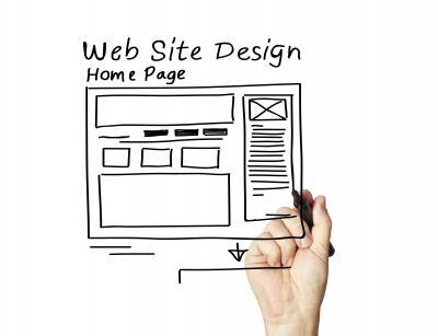 Home page web site design